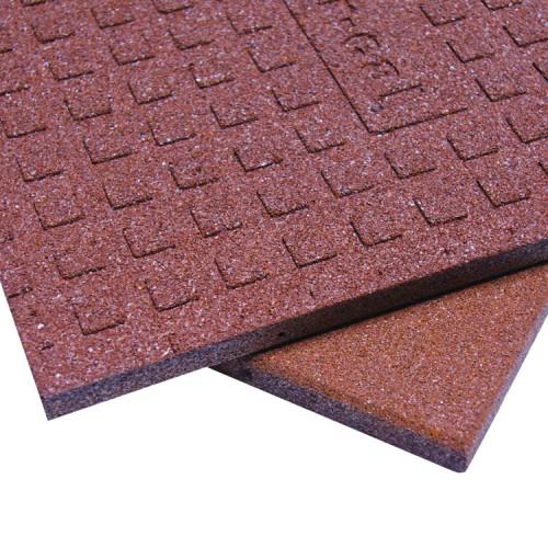1-inch Interlocking Rubber Flooring Tiles